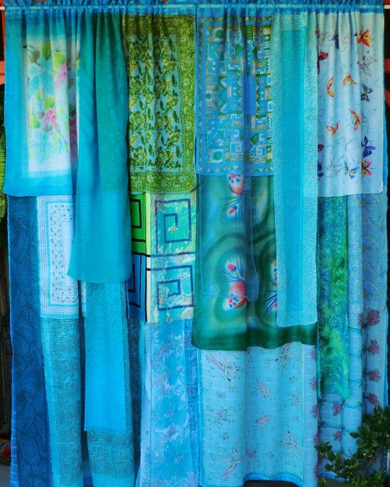 Babylon Sisters: Blue Bohemian Curtains