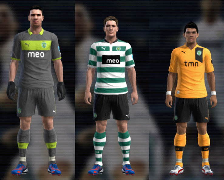 PES 2012 Sporting 12 13 Kit Set by mario88