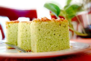 sponge cake pandan
