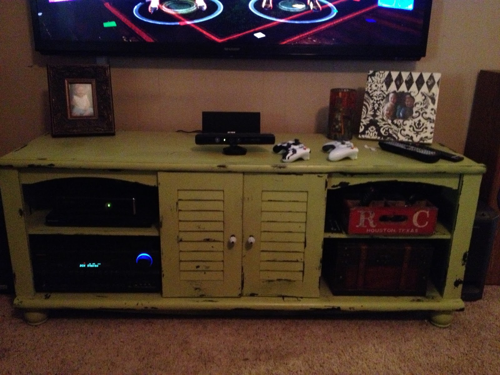 Vintage Minded Maven New TV Stand upcycled furnishings