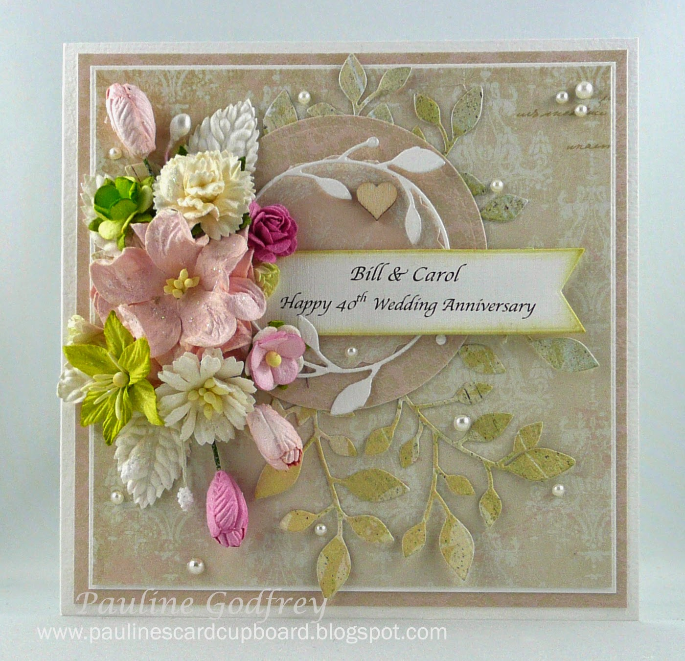 Paulines Card Cupboard 40th Wedding Anniversary