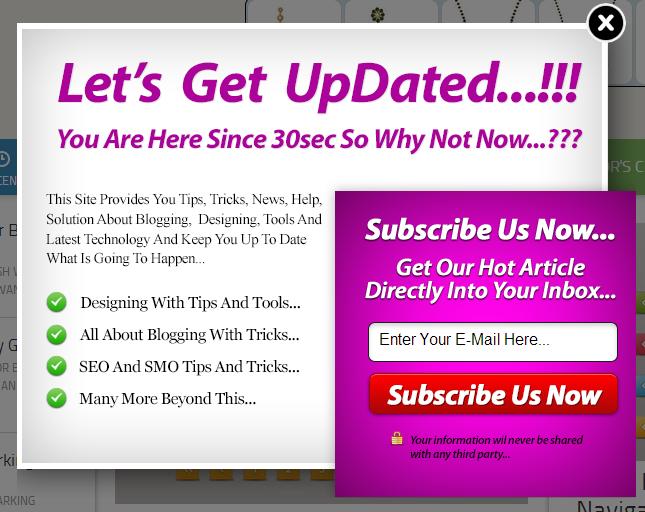 Add Pop-Up Feedburner Subscription Widget on Blogger Blogs