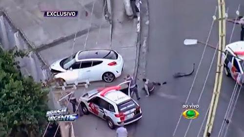 Carro de alta potência é perseguido pela polícia em São Paulo