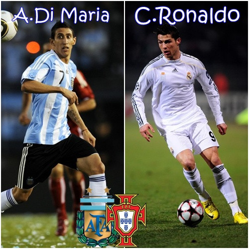 Adore Doll Cristiano Ronaldo And Angel Di Maria Real Madrid 2012