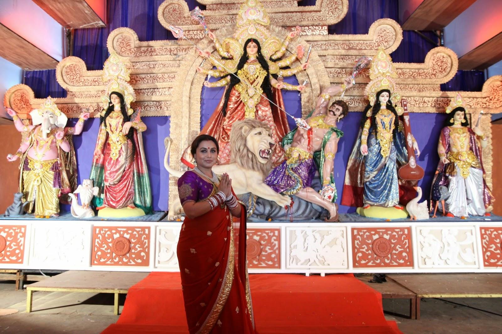 Rani Mukerji at North Bombay Sarbojanin Durga Puja Pandal
