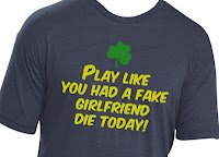 Manti Te'o tee shirt Notre Dame Play like you had a fake girlfriend die today