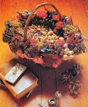 Decoracion con flores secas canasta floral - Plantas secas decoracion ...