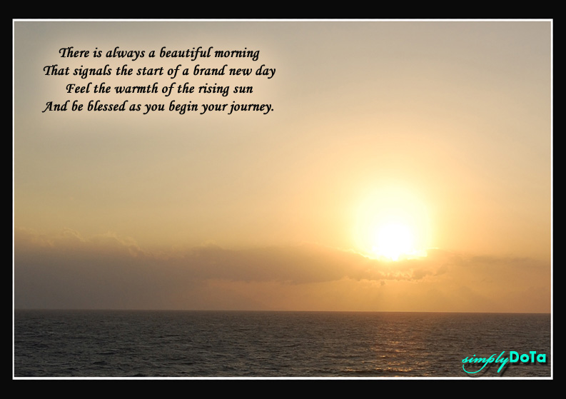 Quote 99 - Beautiful Morning