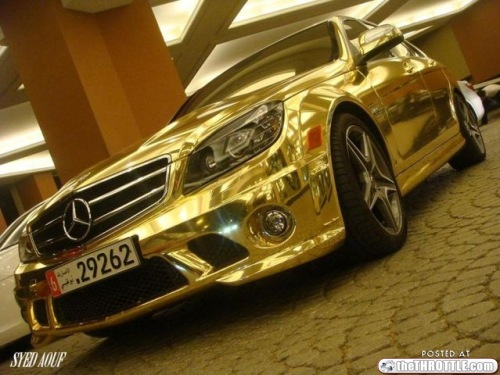 Shoping Galery Mercedes C63 Gold Coated Most Expensive Cars For Sale