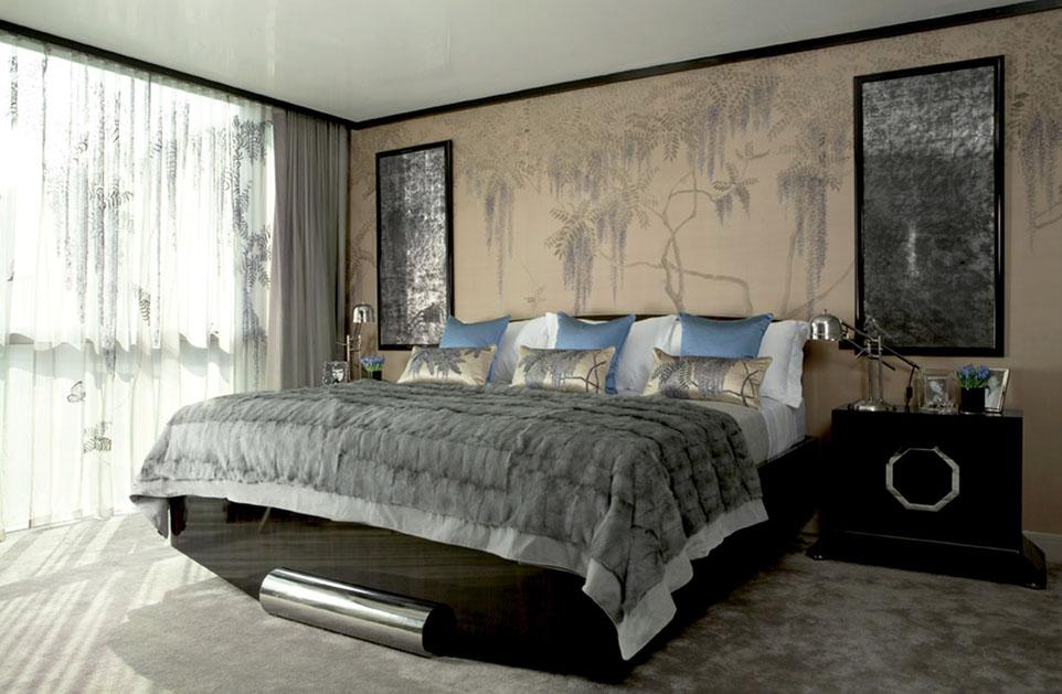Decoraciones de lujo for Dormitorios empapelados y pintados