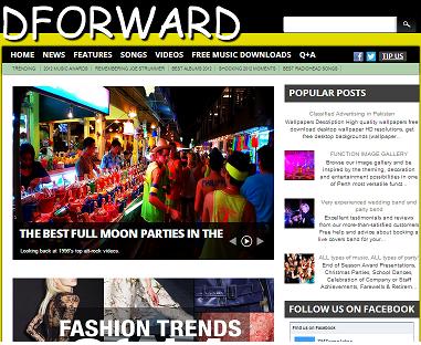 DForward Blogger Template