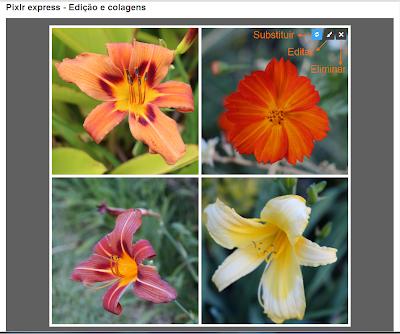 Pixrlr Express - Operações de edição