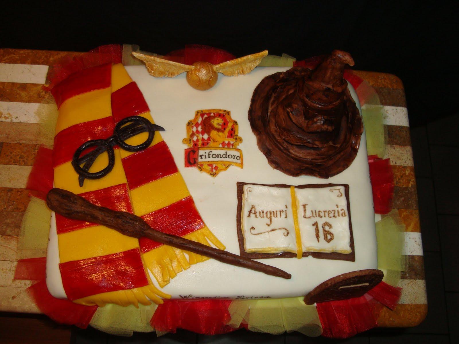 Le torte decorate torta harry potter for Decorazioni torte harry potter
