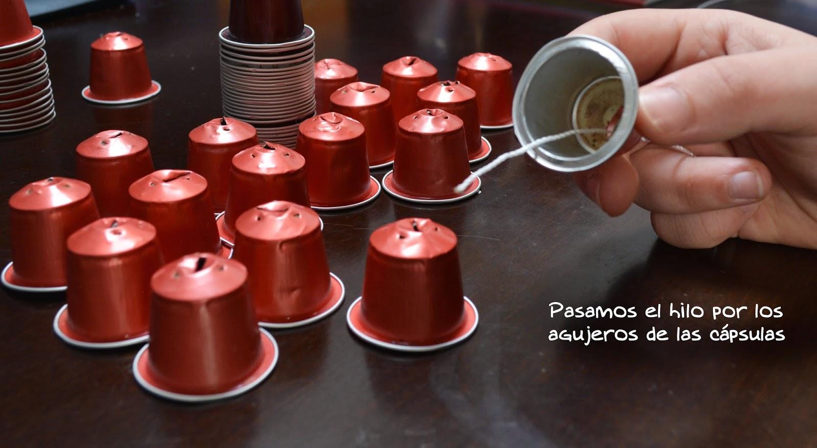 Pulsikiss diy guirnaldas con capsulas nespresso - Que hacer con capsulas nespresso ...