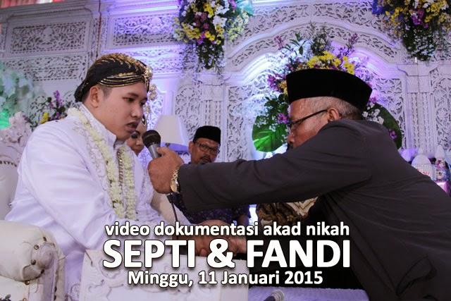 Video Dokumentasi Akad Nikah : Septi & Fandi - 11 Januari 2015 || Video Oleh : Klikmg Video Shooting || Tata Rias & Busana oleh : Tunjung Biru Rias Pengantin Purwokerto