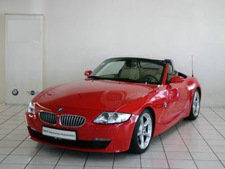 Model Spoils Herself With BMW Convertible Car 2
