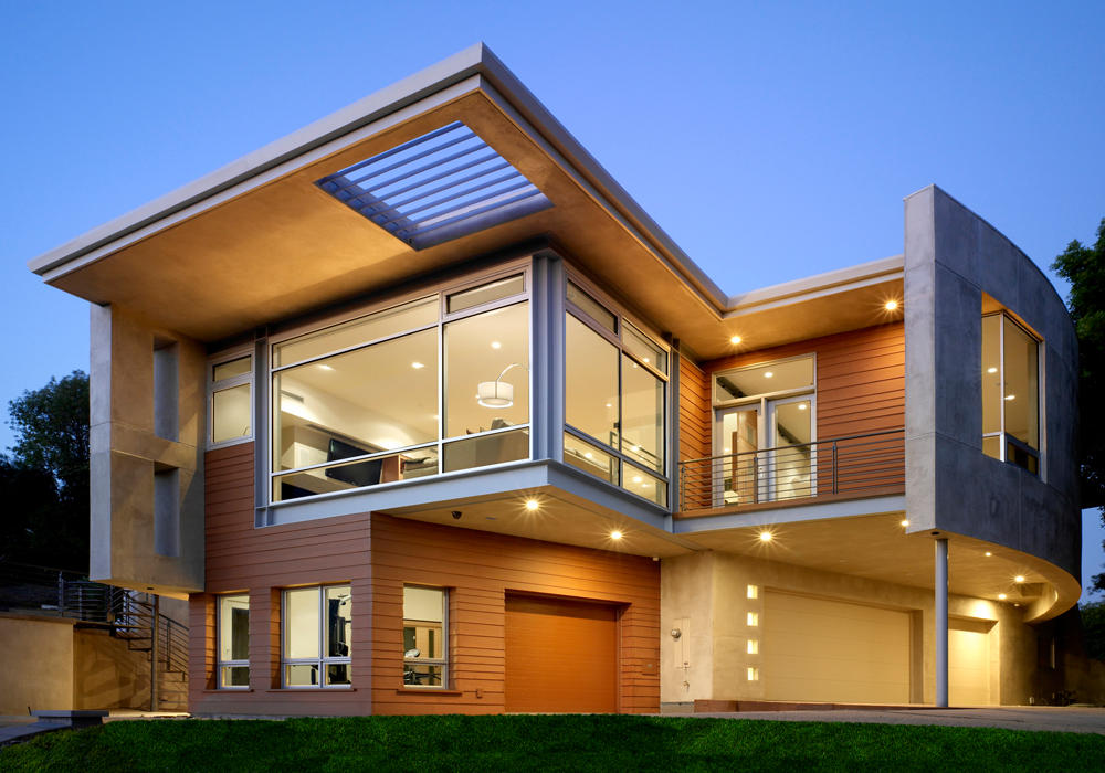 modern homes exterior views