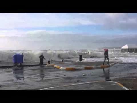 Tramore Woman Runs From Massive Irish Wave