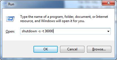 Hẹn giờ tự động tắt máy tính bằng lệnh
