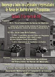 Homenaje a todos los asesinados y represaliados de Navas del Madroño por el Franquismo