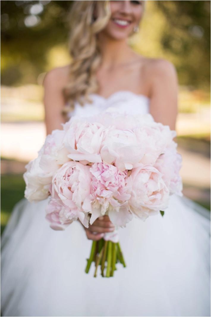 Elegant Blush Peony Bouquet