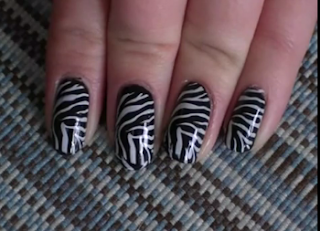unha decorada zebrinha