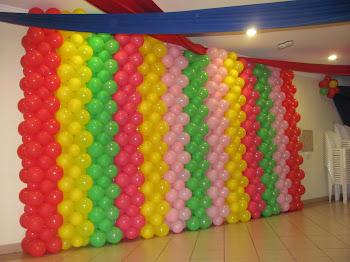 Modelo:Parede forrada com balões!!!