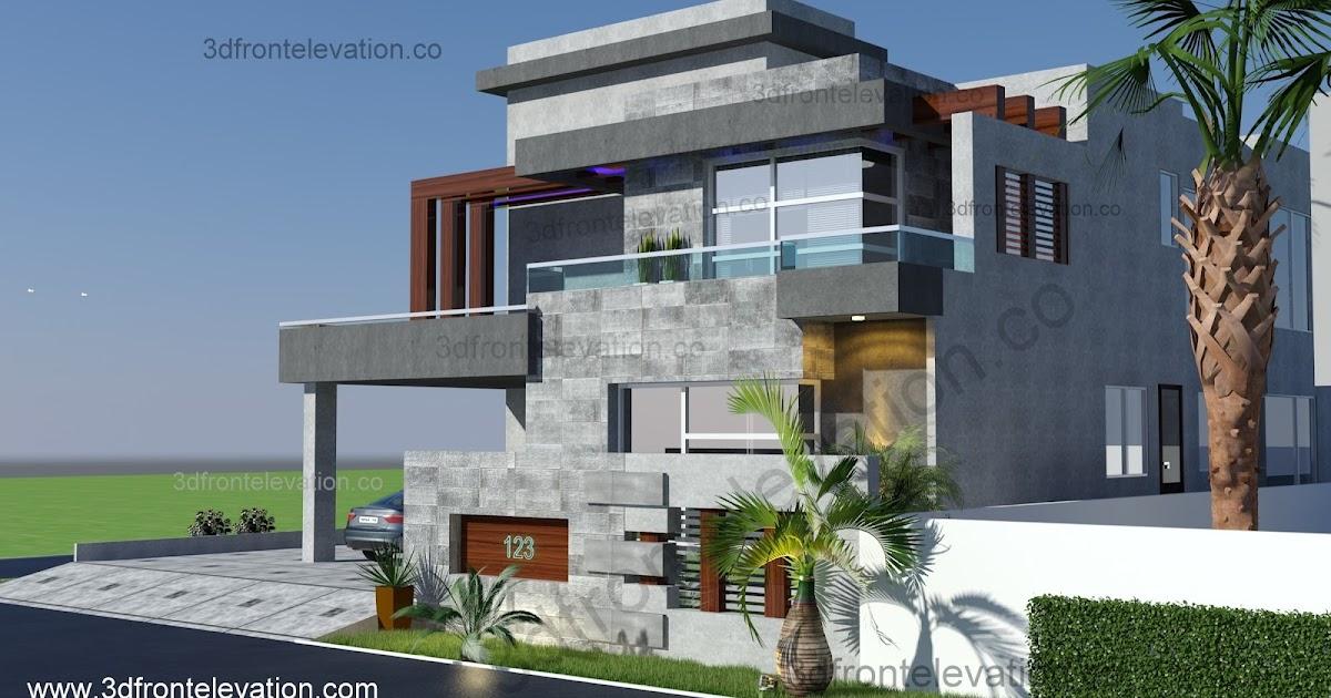 Front Elevation Corner : D front elevation فيلا بناء جديد للبيع في الرمال