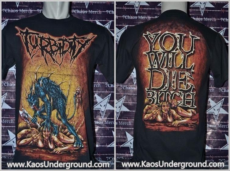 kaos band turbidity underground metal bandung buper