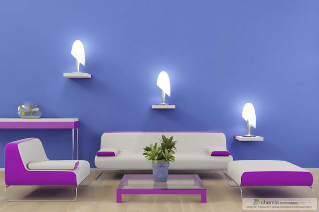 Purple Living Room Design Ideas Photo