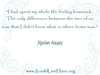 Marian Keyes Quote - Homesick - Meme
