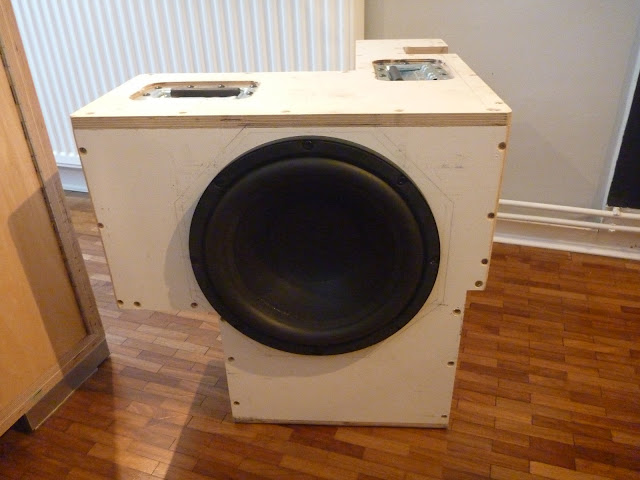 subwoofer for Jim the overland motorhome, housing a single BMS 12S330 driver.