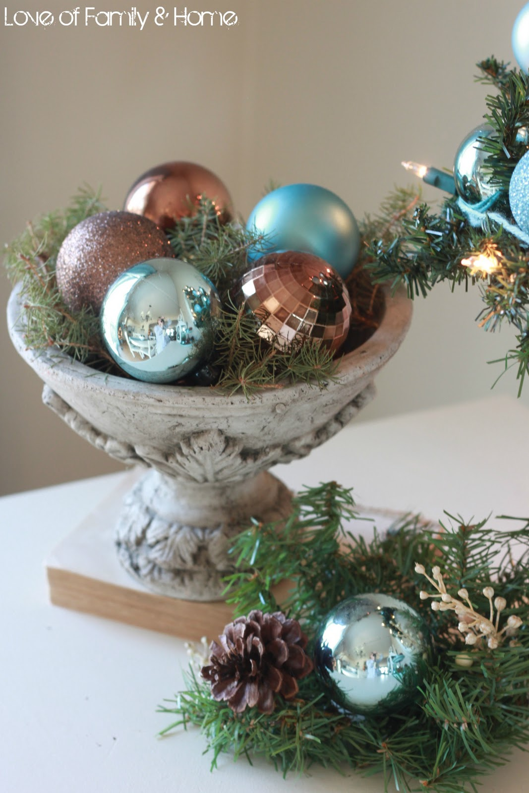 Blue And Brown Christmas Tree Decorations - My christmas kitchen 2011 giveaway winner