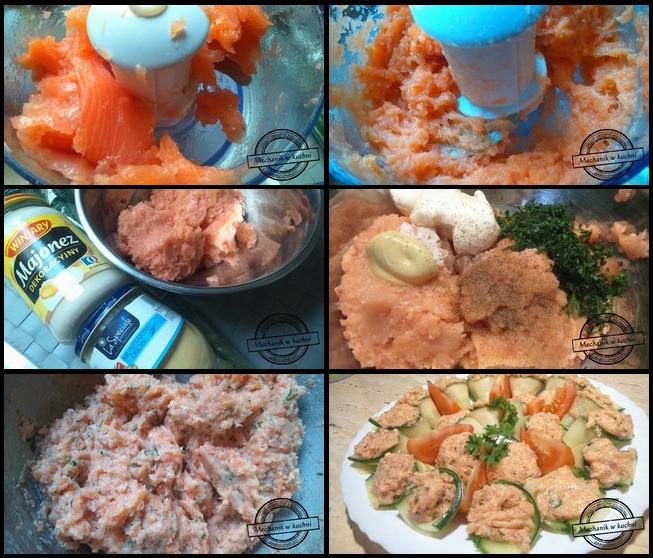 Tatar z łososia przystawka urodziny sylwester przyjęcie mechanik w kuchni  przekąski karnawał sylwester