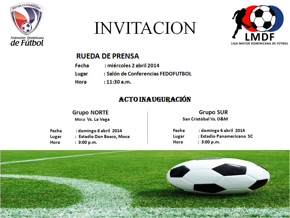 Rueda de Prensa Liga Mayor 2014