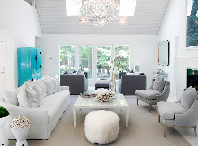 Decorating with Turquoise and Grey