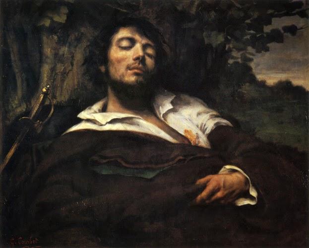 peintre Gustave Courbet tableau homme blessé histoire de l'art 1844 1854 les plus beaux tableaux