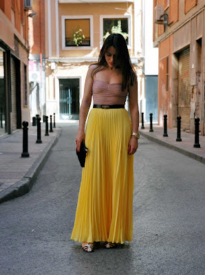 Yellow Pleated Skirt 3