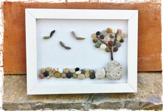 Diy cuadro con piedras handbox craft lovers comunidad diy tutoriales diy kits diy - Cuadros hechos con piedras ...