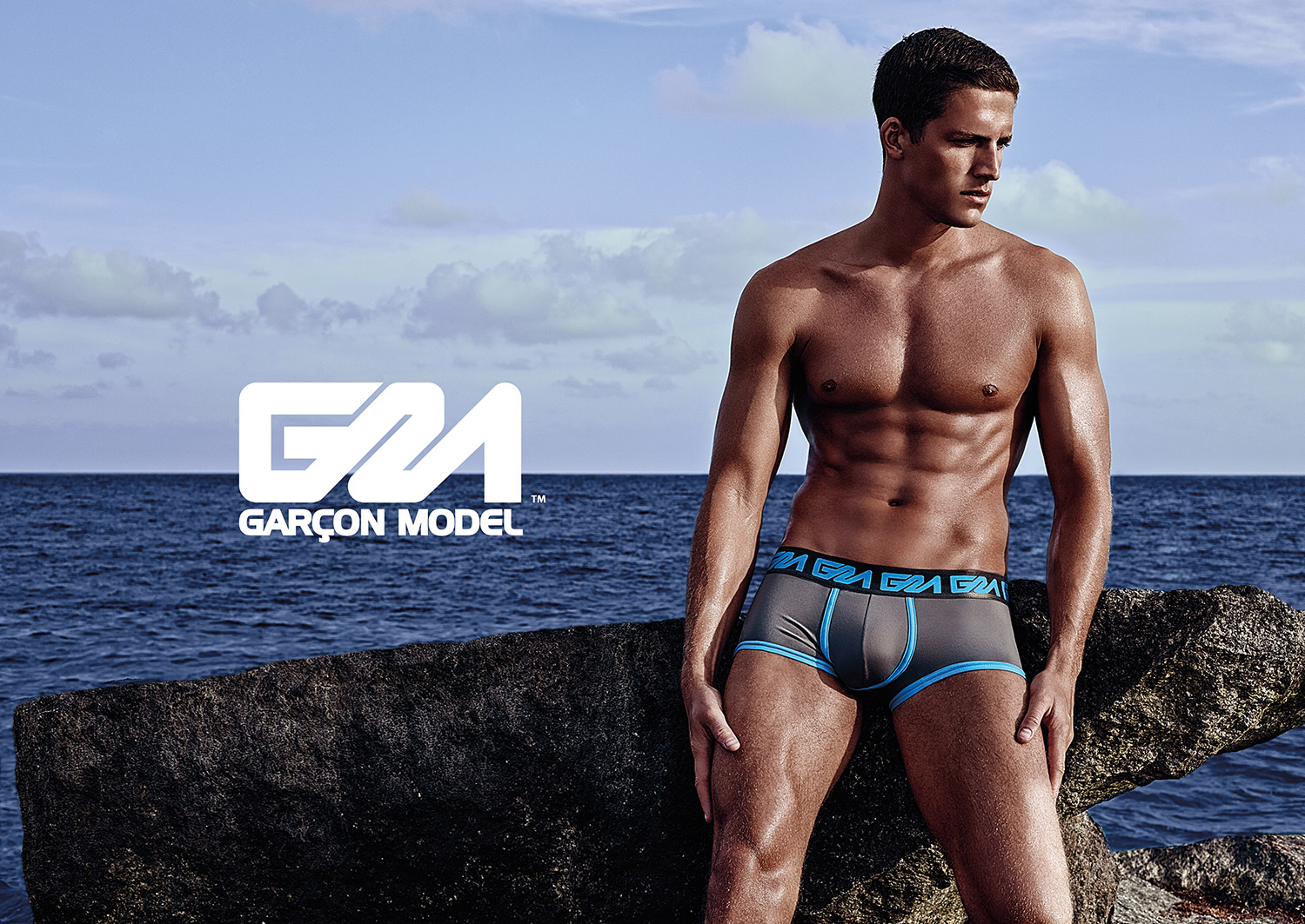 Tyler Kenyon in underwear by Garcon Model