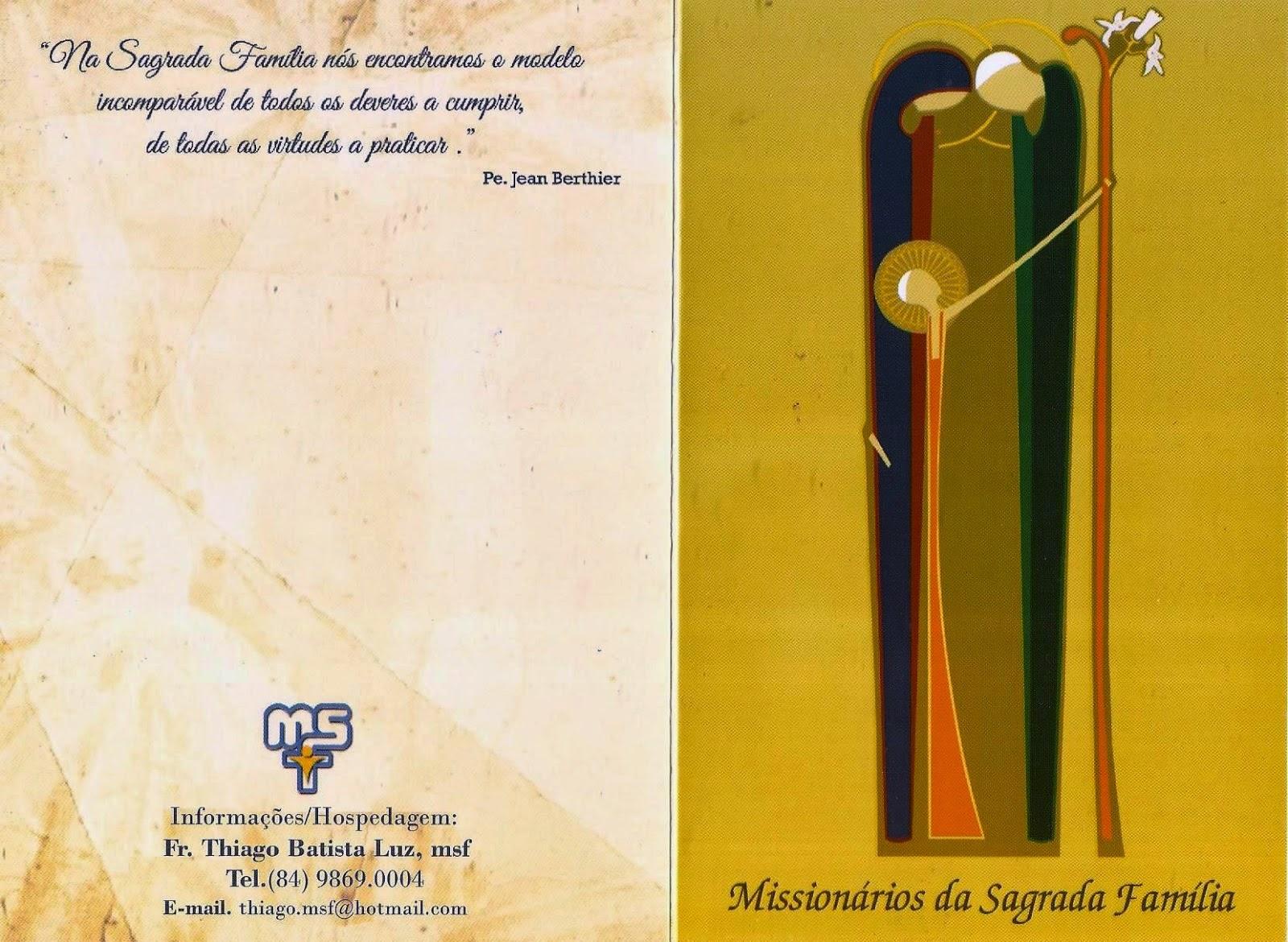 Convite da Ordenação Diaconal do Fr. Thiago Luz, msf