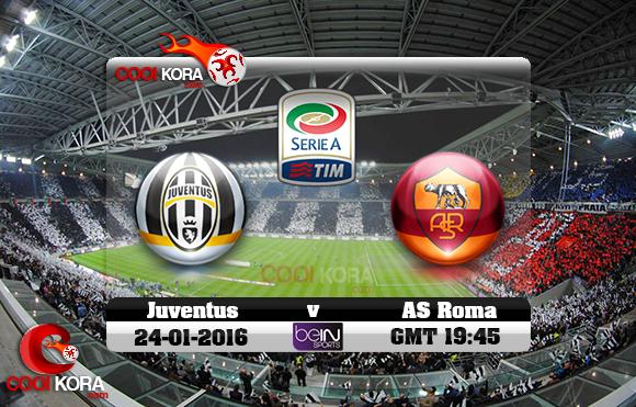 مشاهدة مباراة يوفنتوس وروما اليوم 24-1-2016 في الدوري الإيطالي