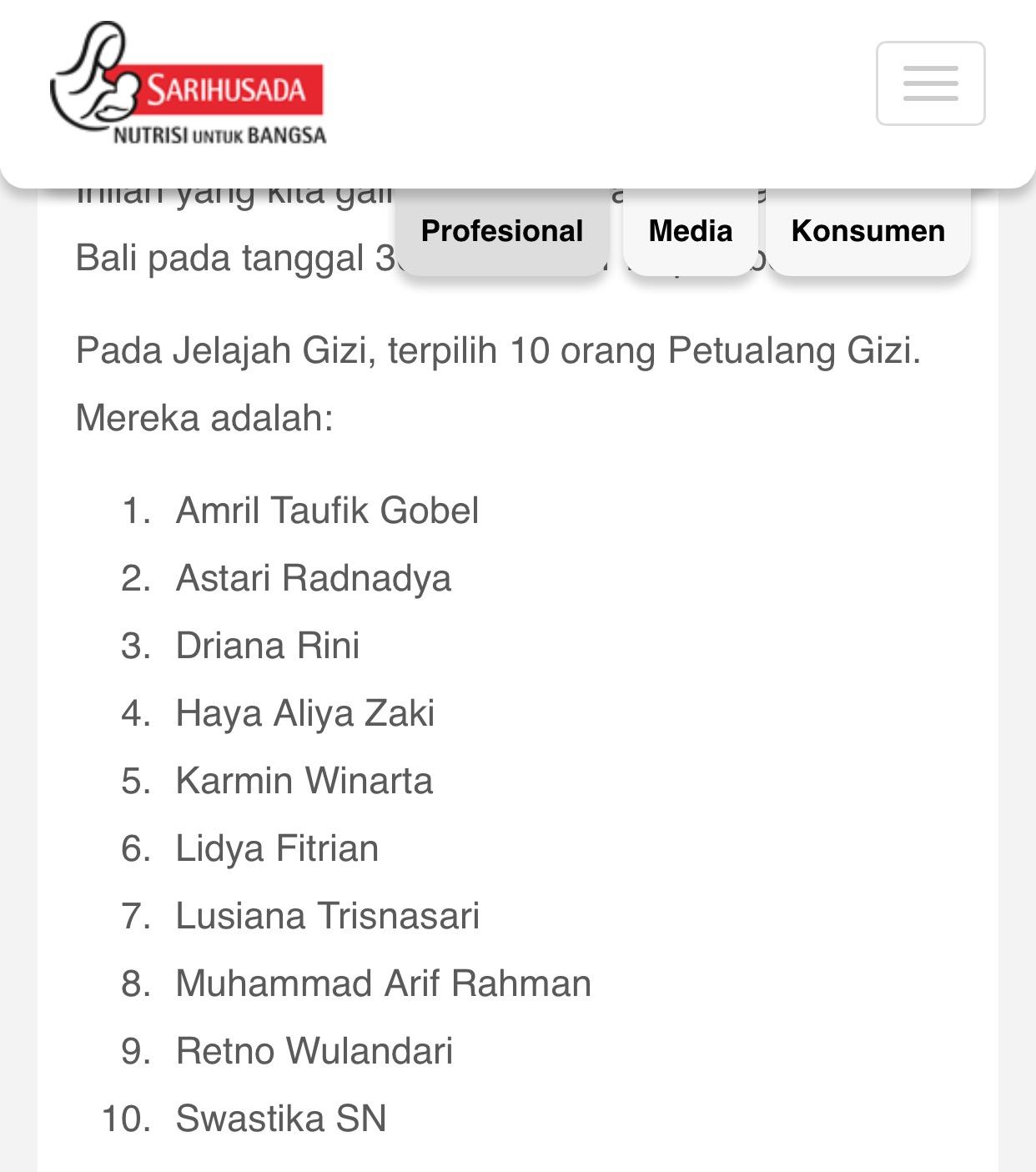 Pemenang lomba blog Jelajah Gizi Bali
