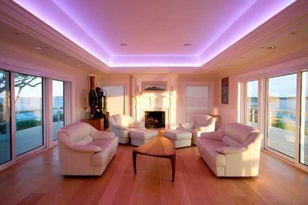 LED lights in the interior - Magic ideas