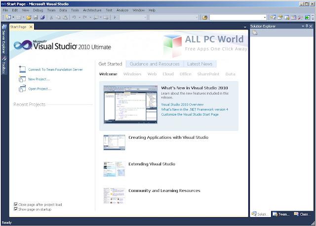 Descargar Visual Studio 2010 Ultimate, Para los programadores 1