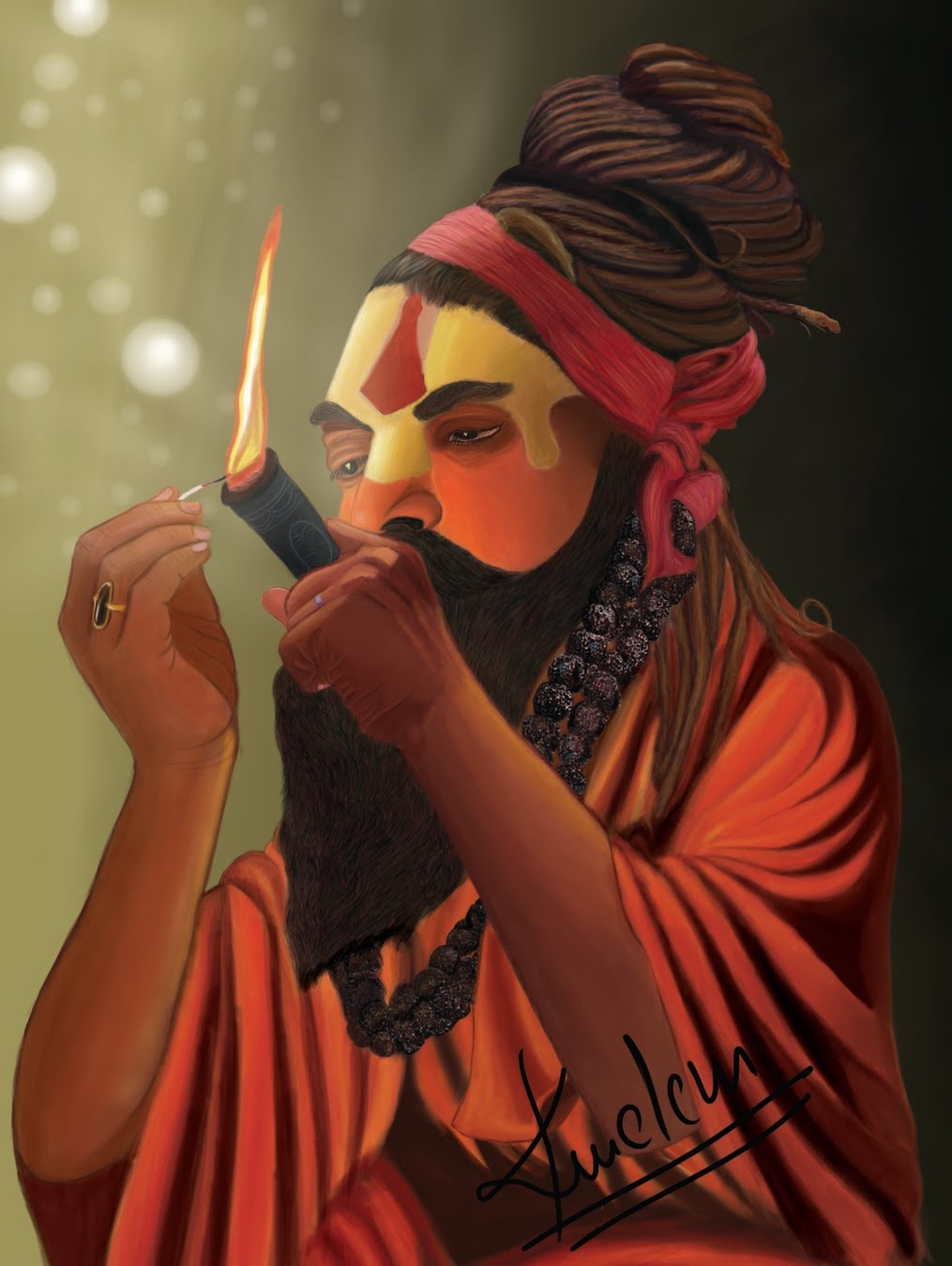 """Animation Journey"": Indian sadhu Smoke-Cannabis"