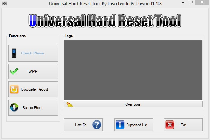 android tool and drivers for hard reset