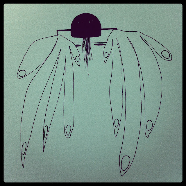 Lana Fee Rasmussen art, Monster 2, 8/32, SoCal Series