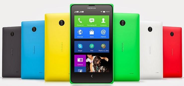 Gambar Nokia X+ Android smartphone layar 4 inch