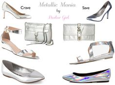 metallic shoes metallic accessories parlor girl